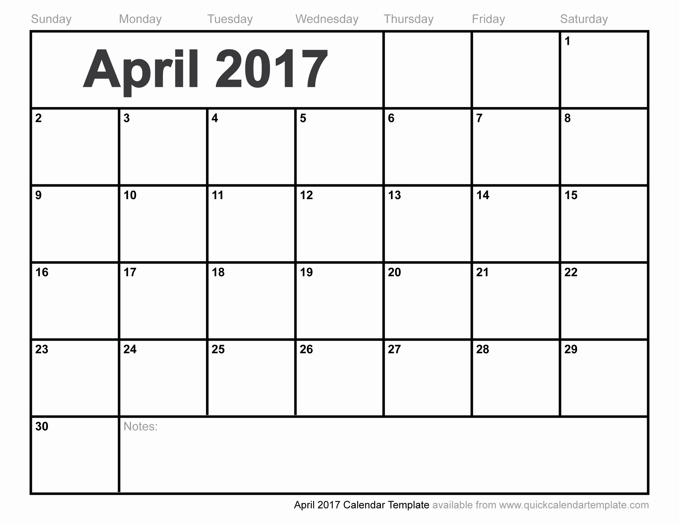 Free Blank Printable Calendar 2017 New Blank April 2017 Calendar