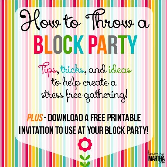 Free Block Party Flyer Template Awesome How to Throw A Block Party Printable Invitation Template