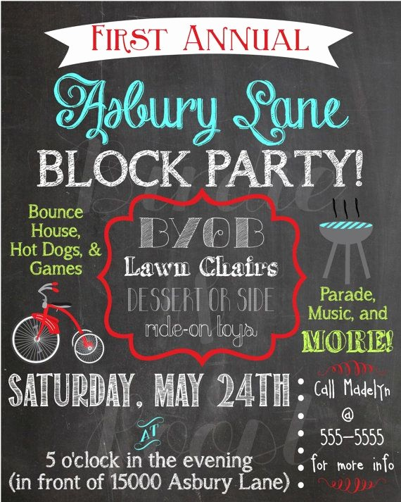 Free Block Party Flyer Template Beautiful Best 25 Block Party Invites Ideas On Pinterest