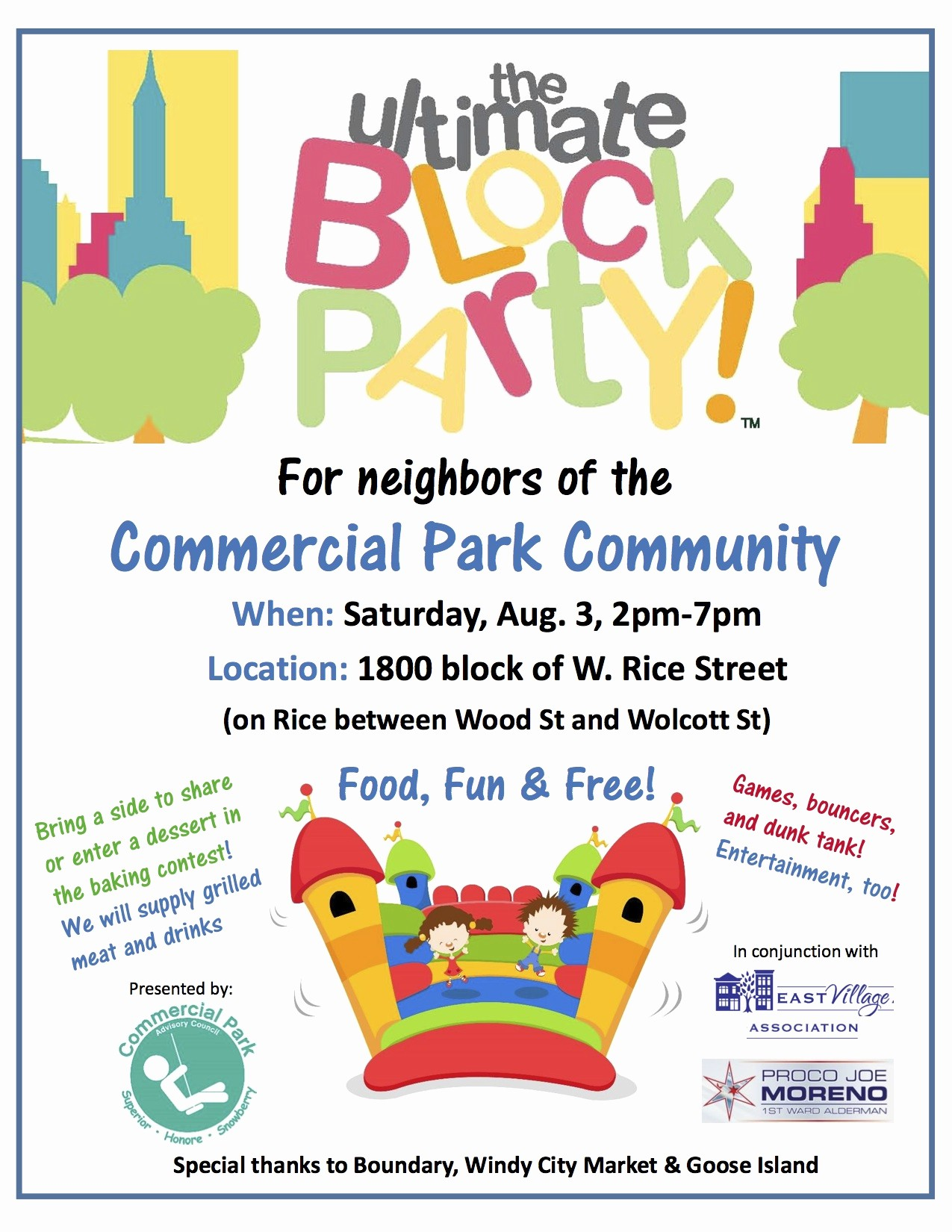 Free Block Party Flyer Template Best Of Mercial Park Munity Block Party is Back – Saturday