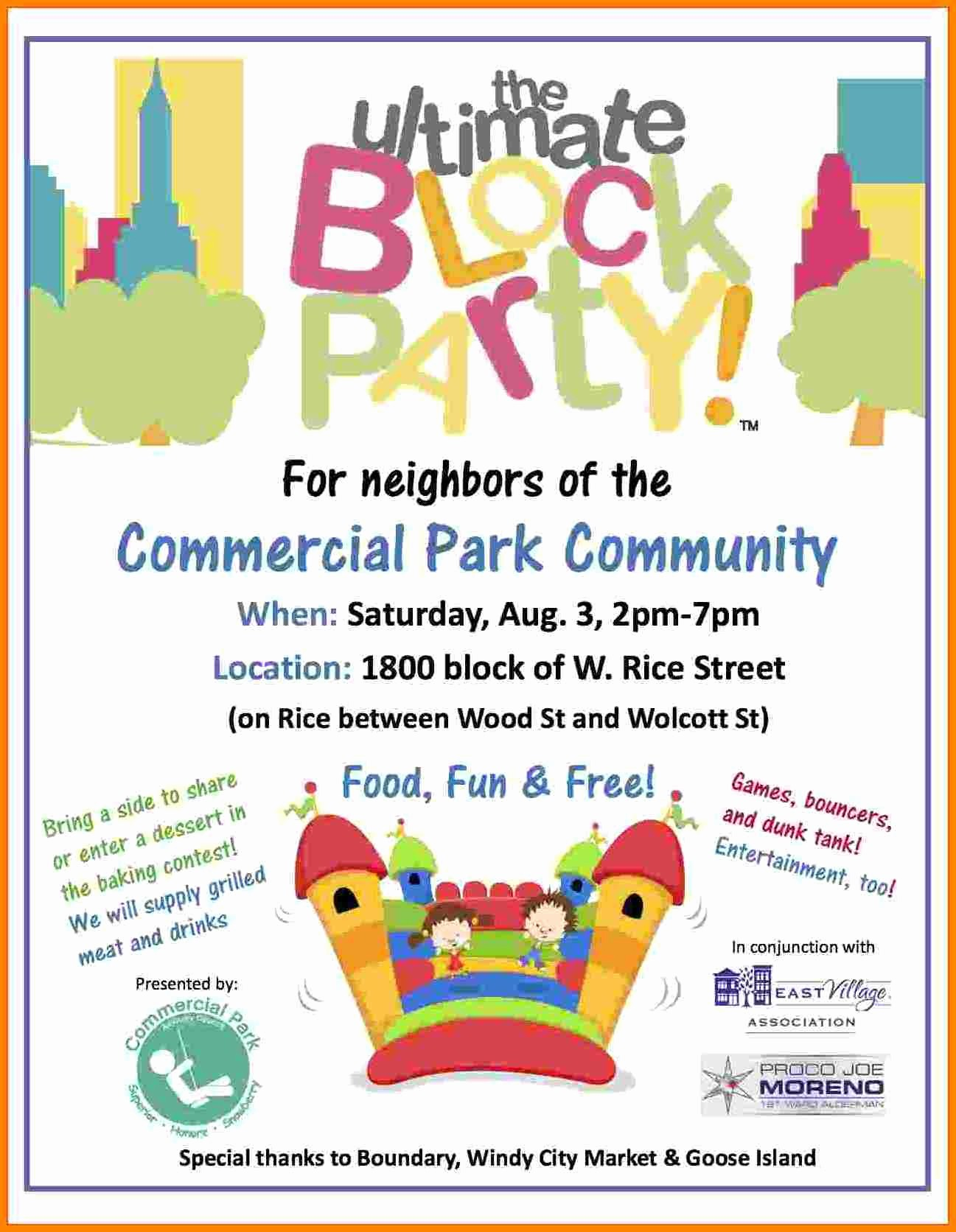 Free Block Party Flyer Template Best Of Neighborhood Block Party Flyer Templ Free Holiday