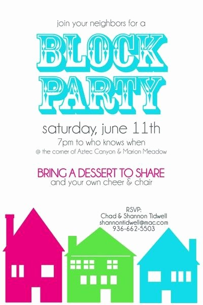 Free Block Party Flyer Template Elegant Block Party Invitation Two Peas In A Bucket
