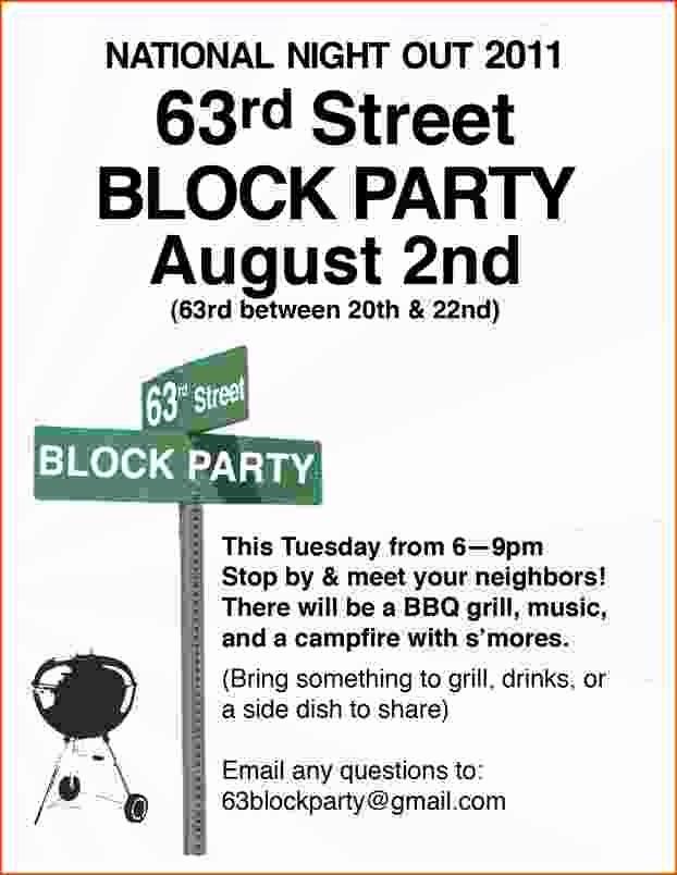 Free Block Party Flyer Template Fresh 4 Block Party Flyer Template Bookletemplate