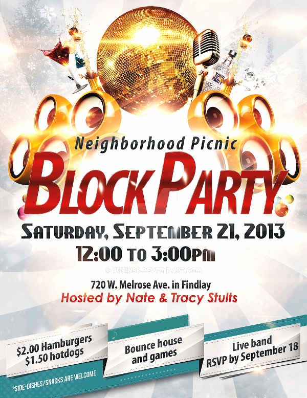 Free Block Party Flyer Template Fresh Block Party Flyer Ibrizz