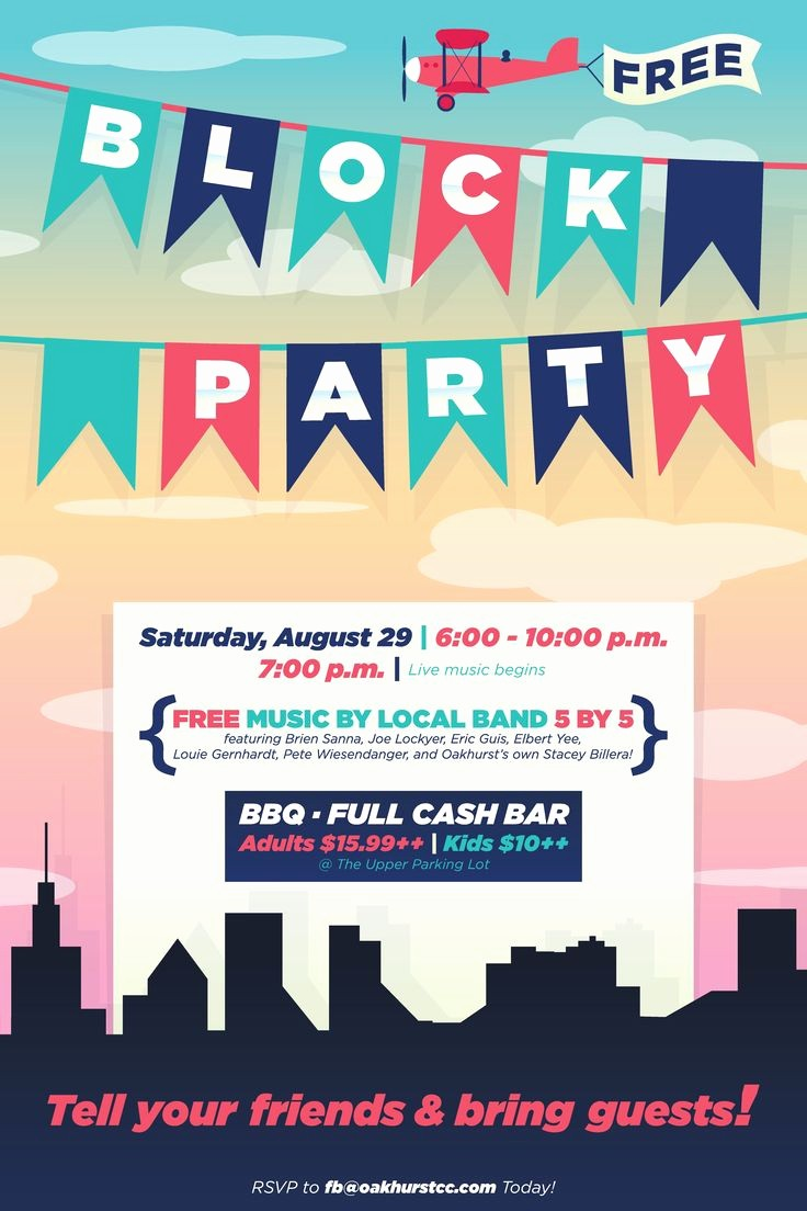 Free Block Party Flyer Template Inspirational Block Party Flyer Poster Design Template