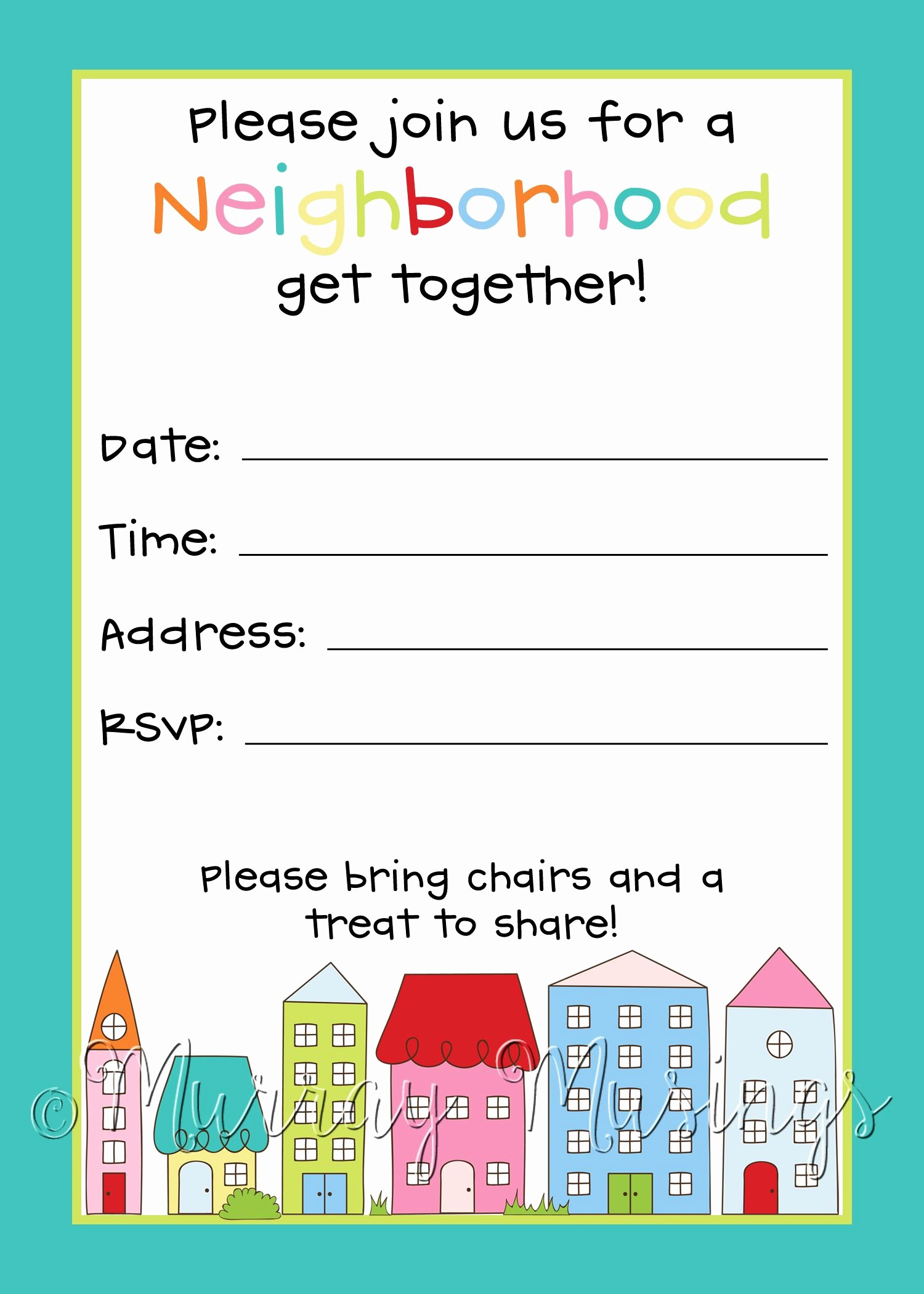 Free Block Party Flyer Template Lovely Neighborhood Block Party Invitation Freeprintable
