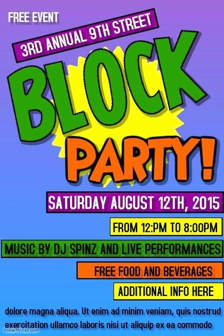 Free Block Party Flyer Template Unique Free Block Party Flyer Template Neighborhood Clip Art