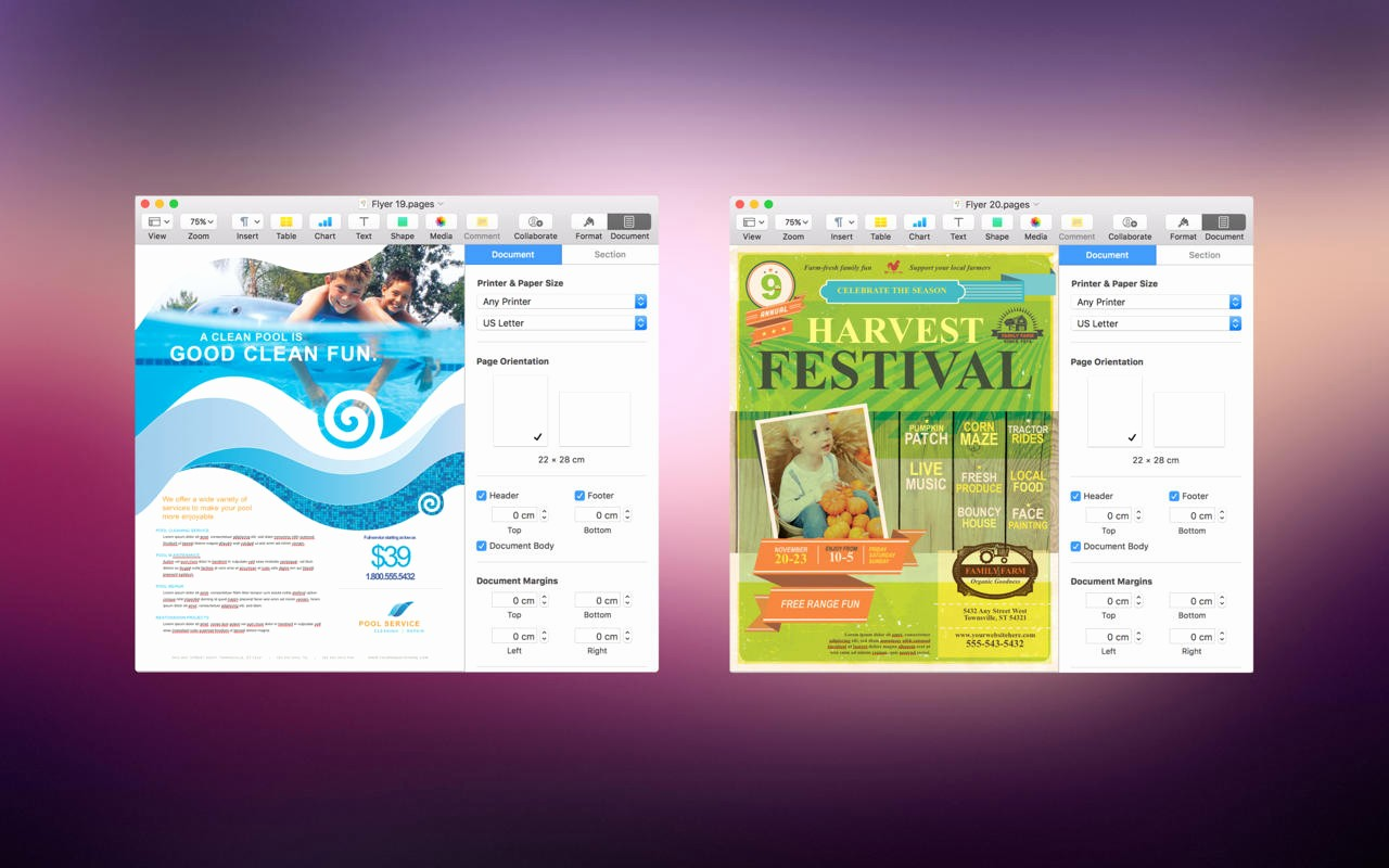 Free Brochure Templates for Mac Awesome App Shopper Flyer Design Flyer Templates for Pages