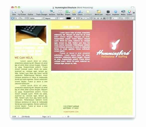 Free Brochure Templates for Mac Elegant Brochures Templates Free Vertigo Bi Fold Brochure Template