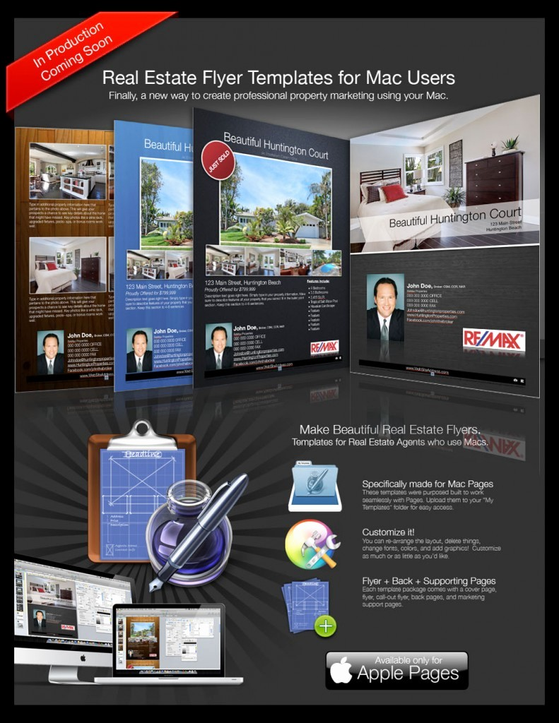 Free Brochure Templates for Mac Luxury Real Estate Flyers for Macs Turnkey Flyers