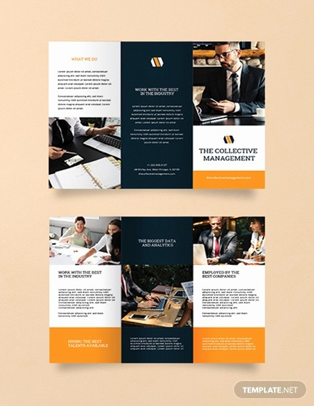 management trifold brochure