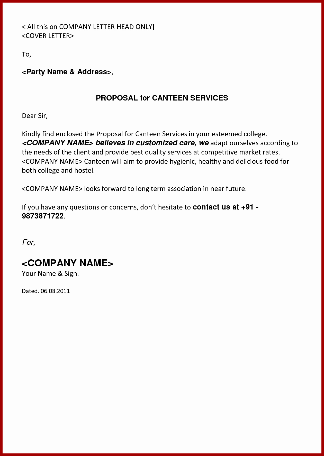 Free Business Letter Template Word Elegant Business Proposal Cover Letter Mughals