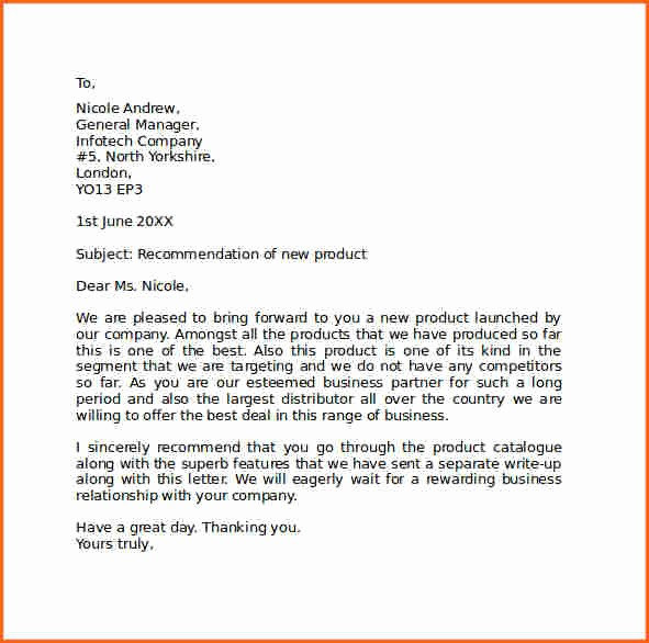 Free Business Letter Template Word Fresh 6 What is Standard Letter format Bud Template Letter