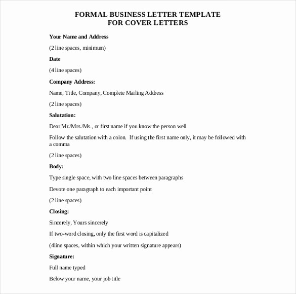 Free Business Letter Template Word Inspirational 50 Business Letter Templates Pdf Doc