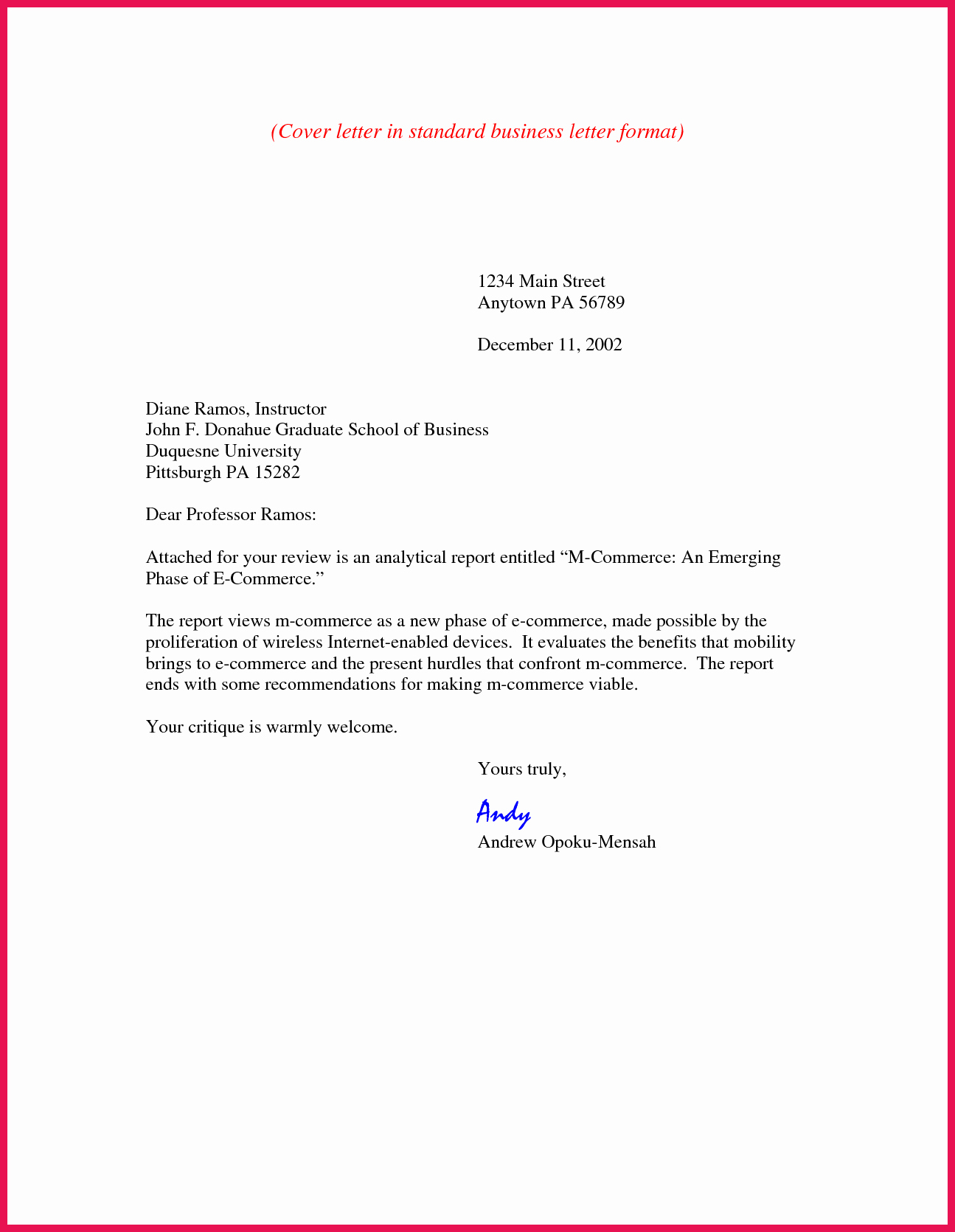 Free Business Letter Template Word Unique Business Cover Letter format