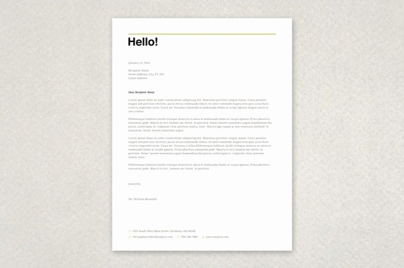 Free Business Templates for Word Fresh Free Letterhead Template 22 Free Word Pdf format