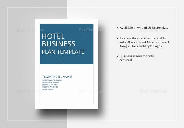 Free Business Templates for Word Lovely 12 Sample Hotel Business Plan Templates to Download