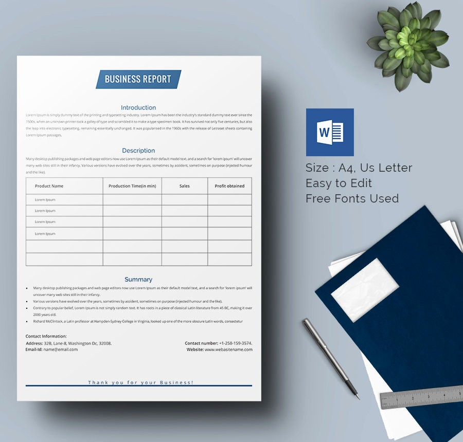 Free Business Templates for Word Lovely 35 Business Report Template Free Sample Example