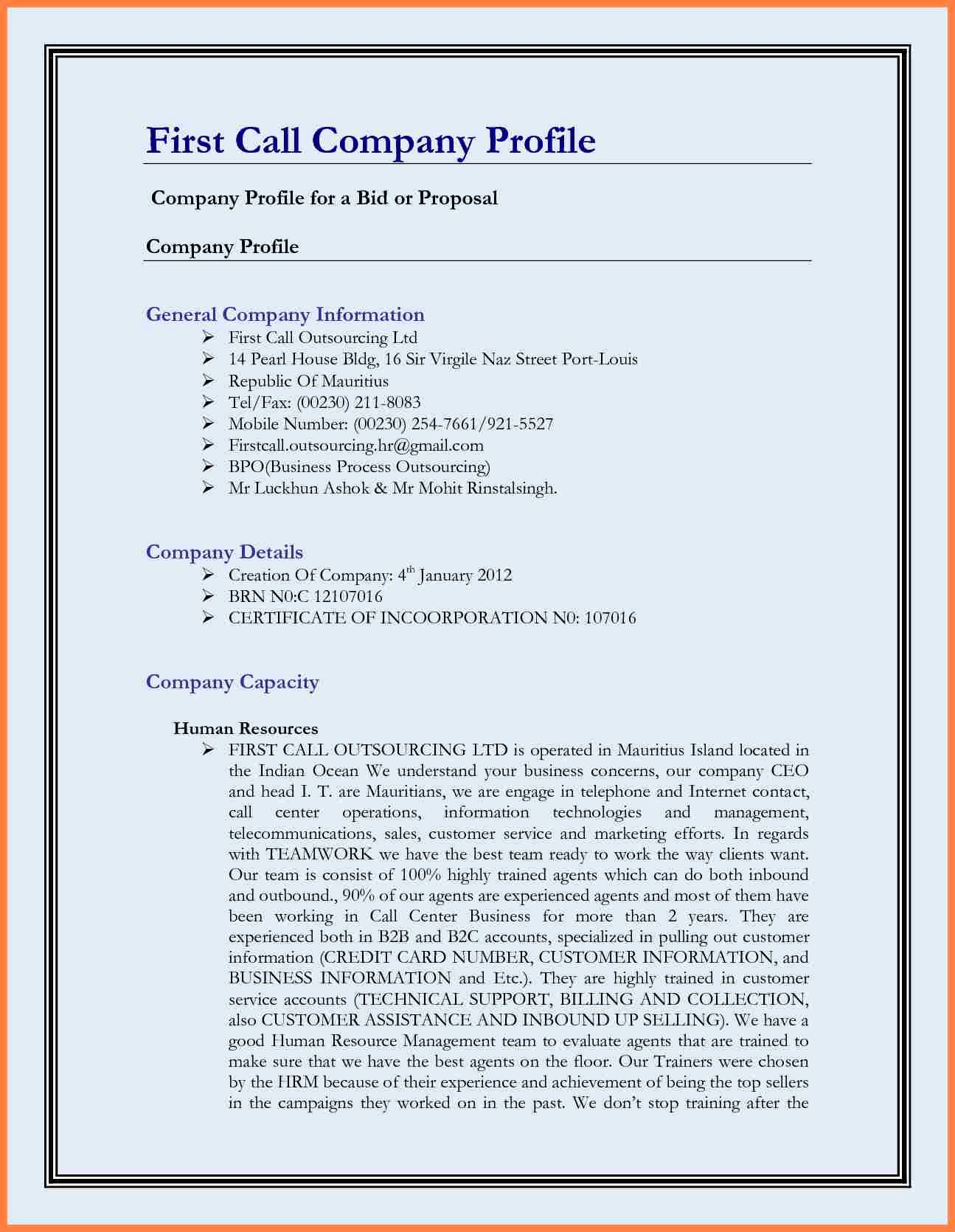 Free Business Templates for Word New 11 Best Pany Profile Template