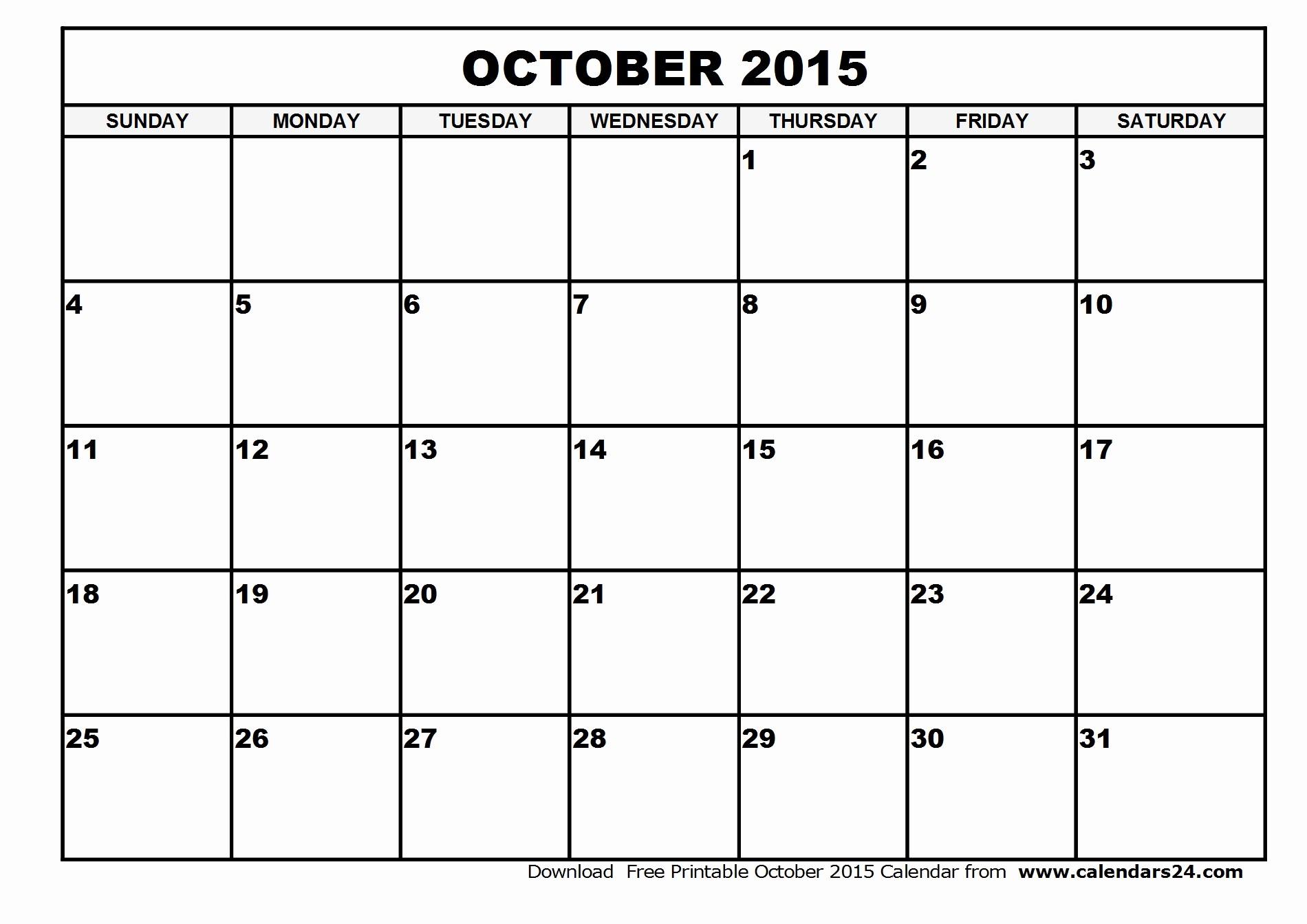 Free Calendar Templates August 2015 Awesome October 2015 Calendar Free Imgok