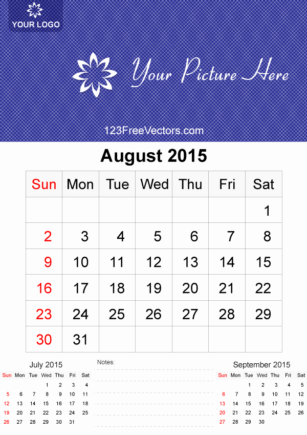 Free Calendar Templates August 2015 Best Of August 2015 Calendar Template Vector Free