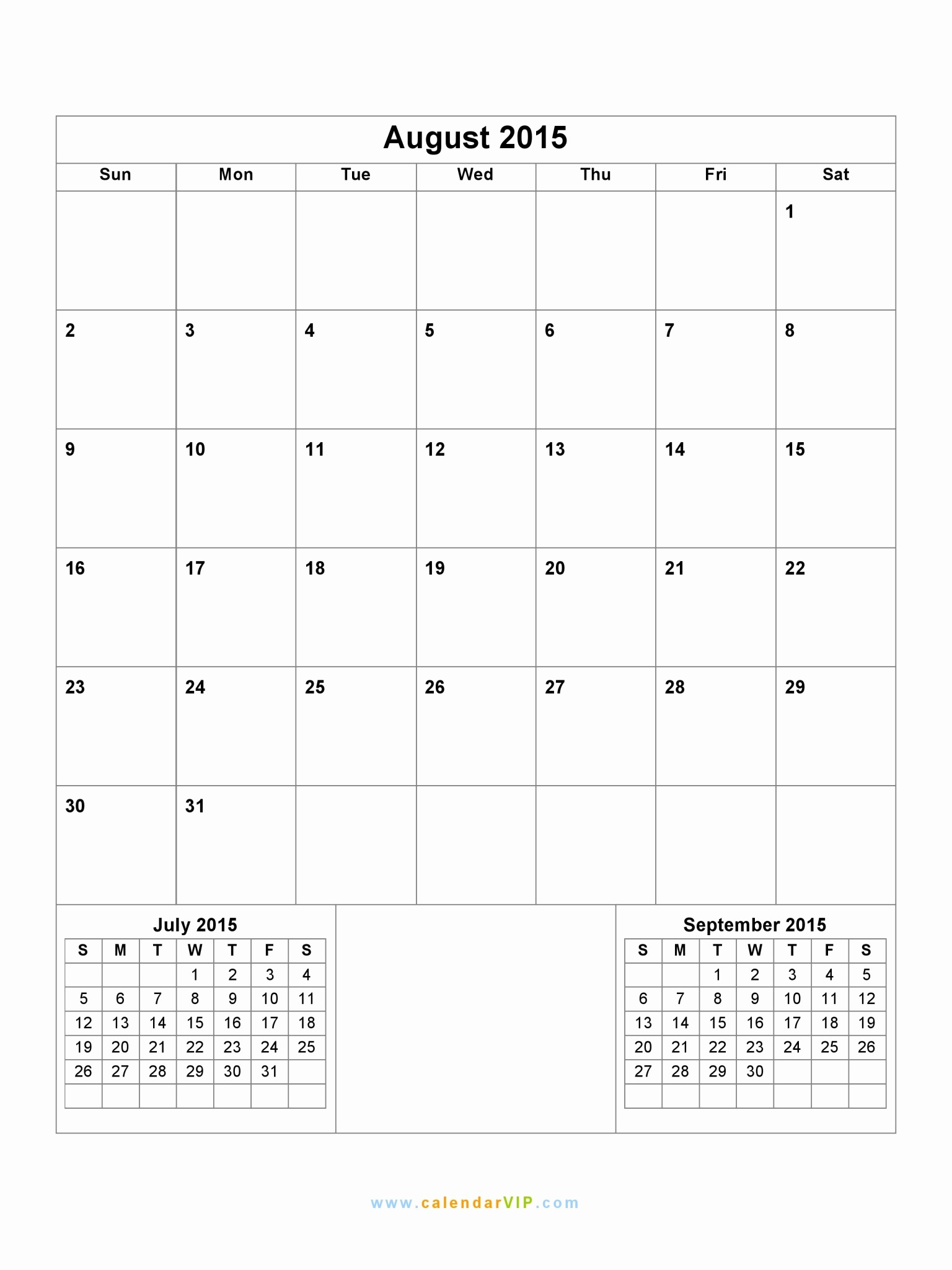 Free Calendar Templates August 2015 Elegant Free Printable Colorful 2014 Calendars by and at Blank