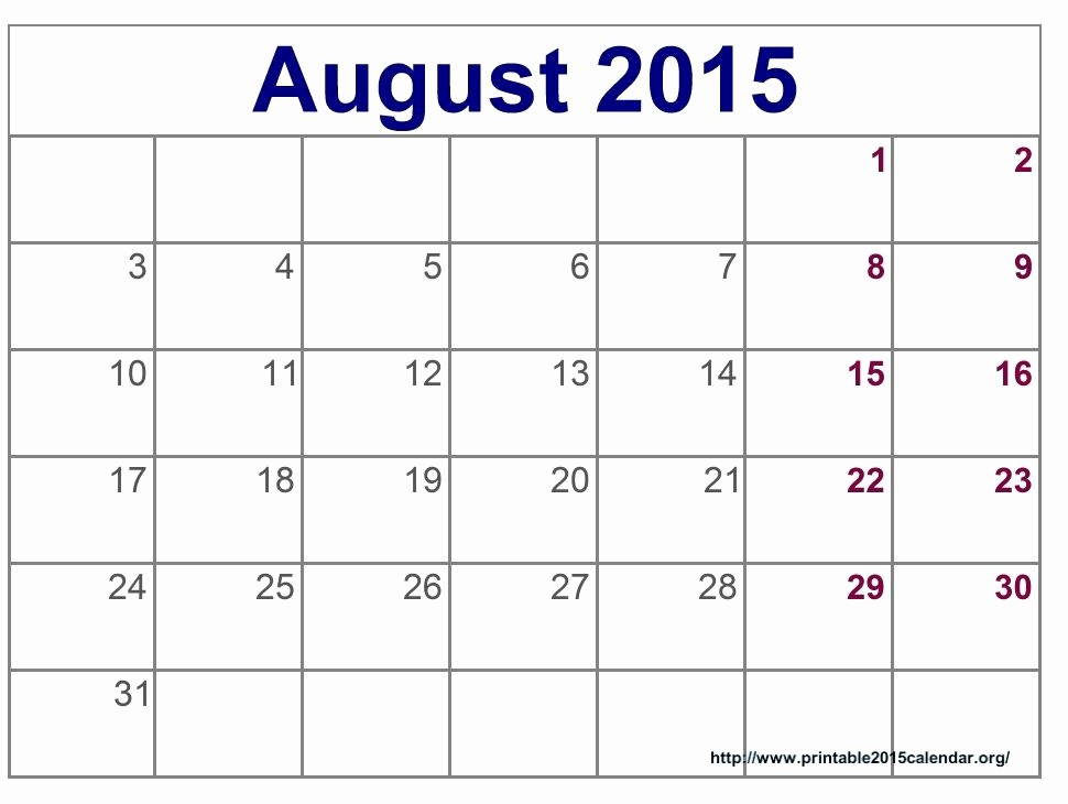 Free Calendar Templates August 2015 Elegant Time and Date August 2015 Calendar Full Templates for You