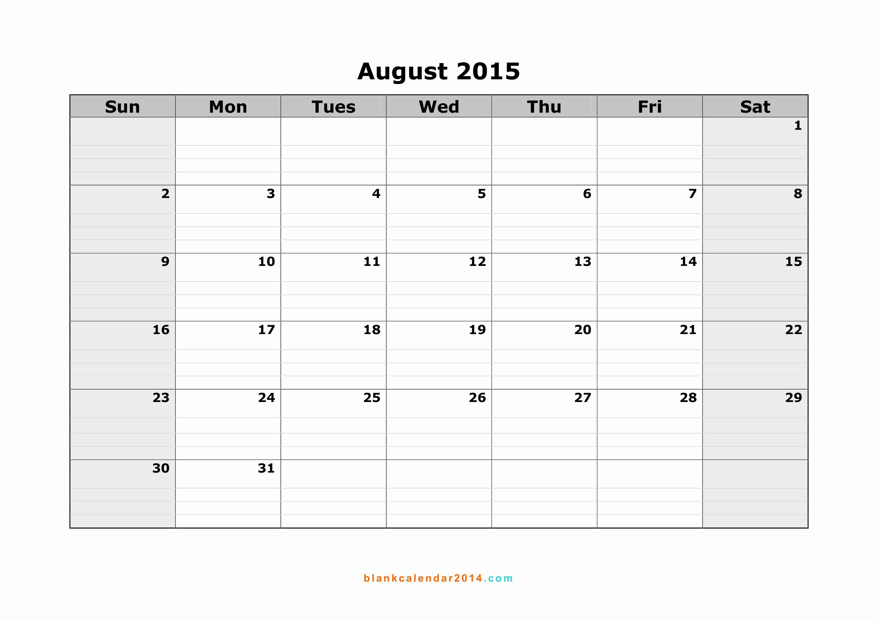 Free Calendar Templates August 2015 Luxury 8 Best Of August 2015 Calendar Free Printable Cute