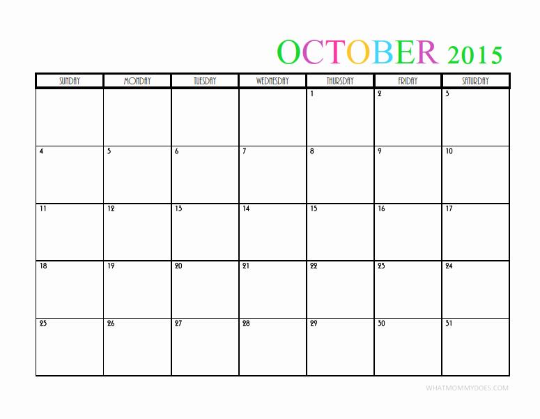 Free Calendar Templates August 2015 Unique 2015 Monthly Calendar Templates