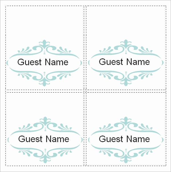 Free Card Templates for Word Elegant Sample Place Card Template 6 Free Documents Download In