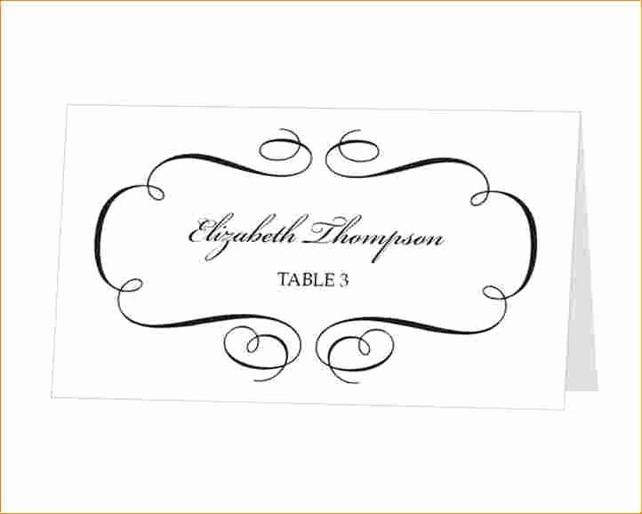 Free Card Templates for Word Unique Place Cards Template Word Download Beautiful Template