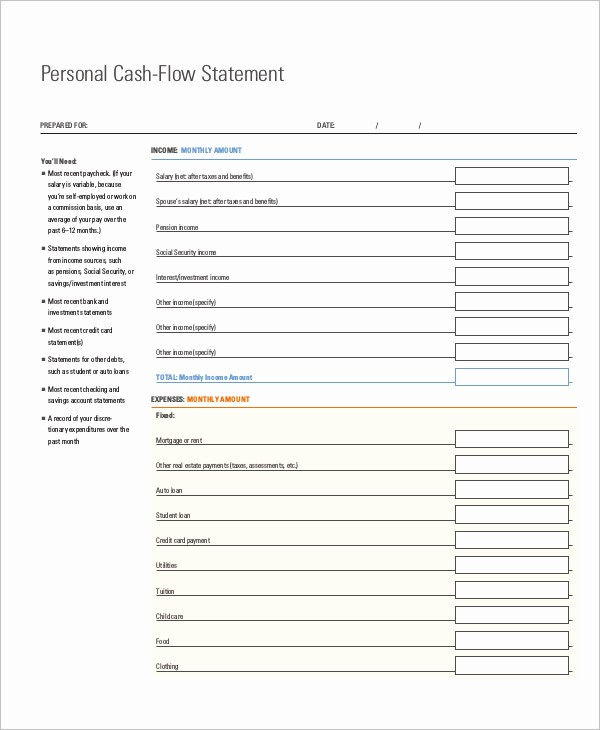 Free Cash Flow Statement Template Awesome 33 Cash Flow Statement Templates Free Excel Pdf Examples