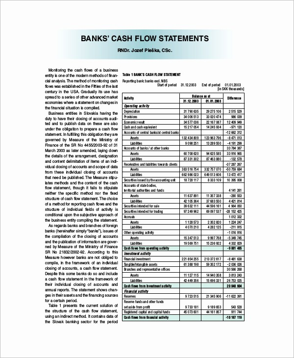Free Cash Flow Statement Template Inspirational 33 Cash Flow Statement Templates Free Excel Pdf Examples