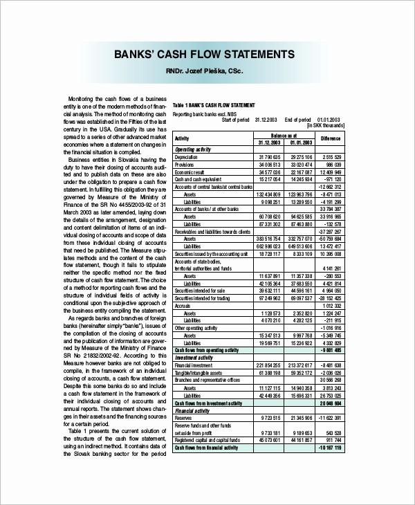 Free Cash Flow Statement Template Inspirational 33 Cash Flow Statement Templates Free Excel Pdf Examples