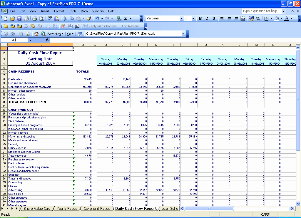 Free Cash Flow Statement Template Luxury Best S Of Daily Cash Flow Spreadsheet Daily Cash