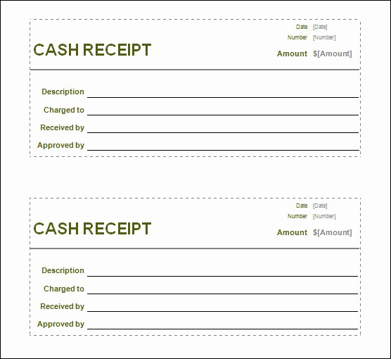 Free Cash Receipt Template Word Awesome Free Receipt Printable Template for Excel Pdf formats