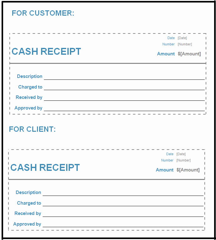 receipts template