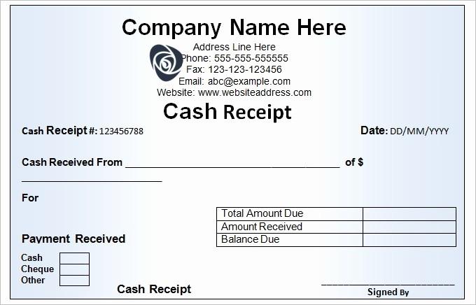 Free Cash Receipt Template Word Elegant Cash Receipt Document Template Excel Receipt Template Cash