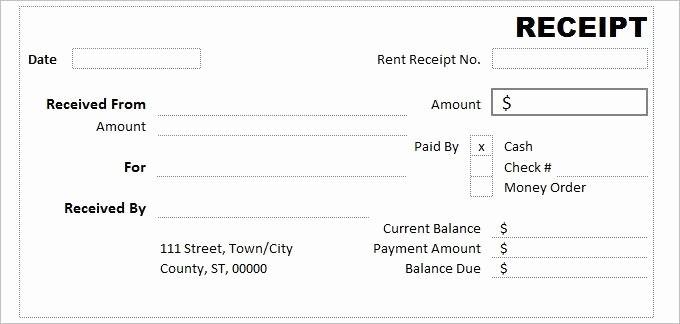 Free Cash Receipt Template Word Elegant Cash Receipt Template 7 Free Word Excel Documents