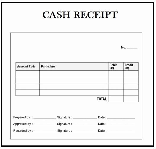 Free Cash Receipt Template Word Fresh Customizable Cash Receipt Template In Word Excel and Pdf