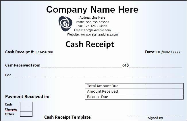 Free Cash Receipt Template Word Fresh Free Cash Receipt Template