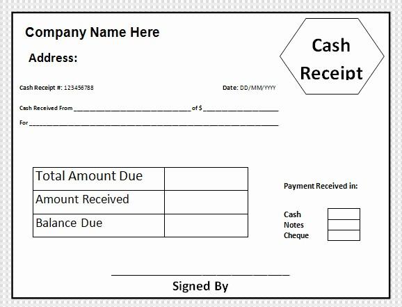 Free Cash Receipt Template Word Inspirational Sample Cash Receipt Template 21 Free Documents In Pdf Word