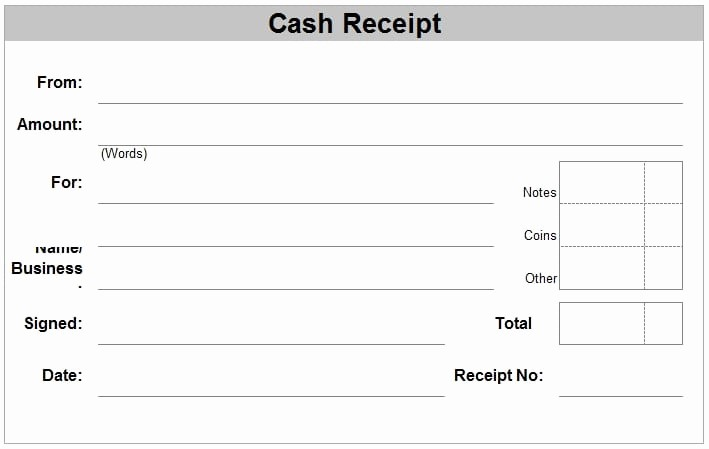 Free Cash Receipt Template Word New 6 Free Cash Receipt Templates Excel Pdf formats