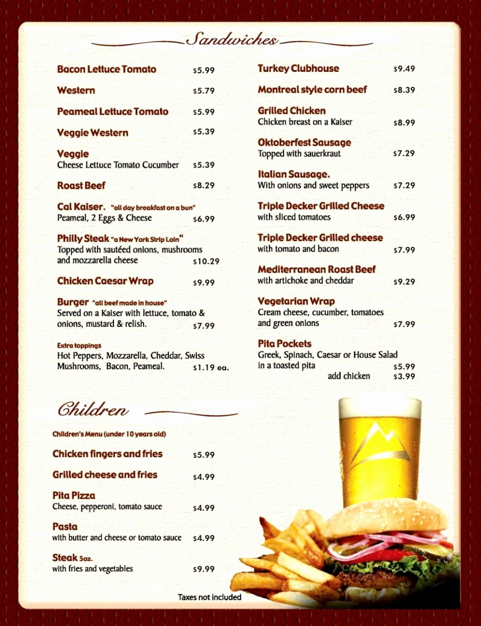 Free Catering Menu Templates Download Awesome Free Printable Restaurant Menu Template