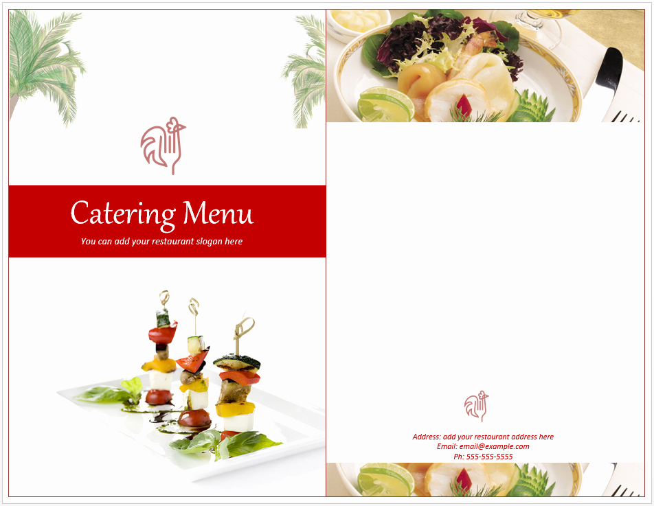 Free Catering Menu Templates Download Awesome Venue Catering Menu Template Free Template Downloads