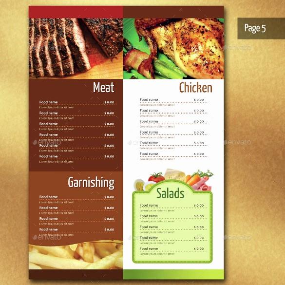 Free Catering Menu Templates Download Beautiful 14 Free Restaurant Menu Templates