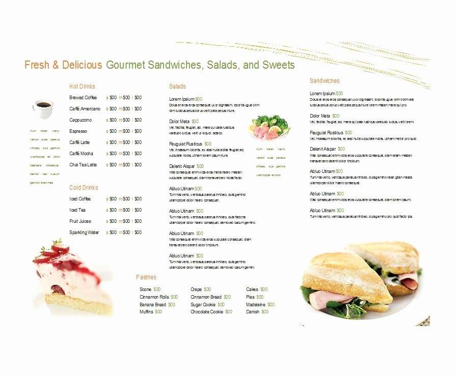 Free Catering Menu Templates Download Beautiful 30 Restaurant Menu Templates & Designs Template Lab