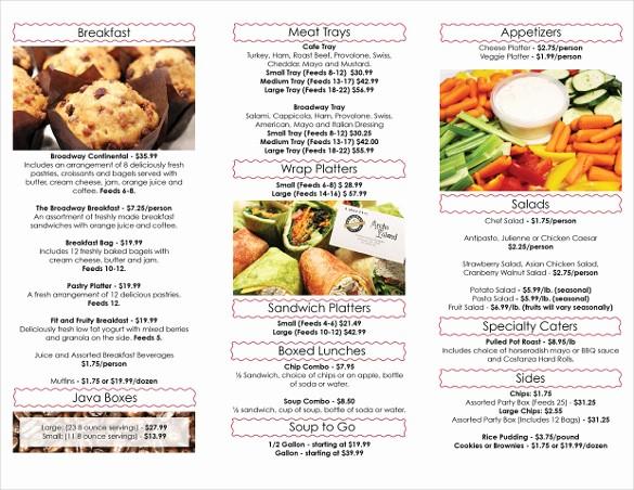Free Catering Menu Templates Download Fresh Catering Menu Template – 36 Free Psd Eps Documents