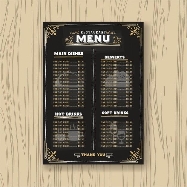 Free Catering Menu Templates Download Fresh Restaurant Menu Template Vector