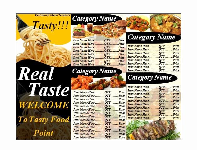 Free Catering Menu Templates Download Inspirational Restaurant Menu Template